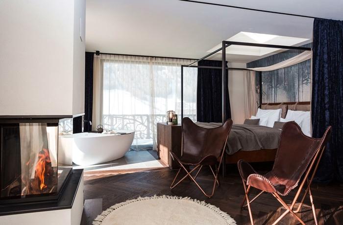 Romantische Hotelzimmer: Hier mal ganz modern & geradlinig.