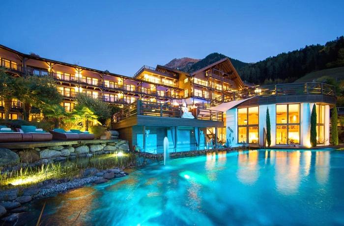 Winterurlaub Wandern & Wellness: Golf & Spa Resort Andreus, fantastische Saunalandschaft und Wellnessbereich, St. Leonhard in Passeier, Italien