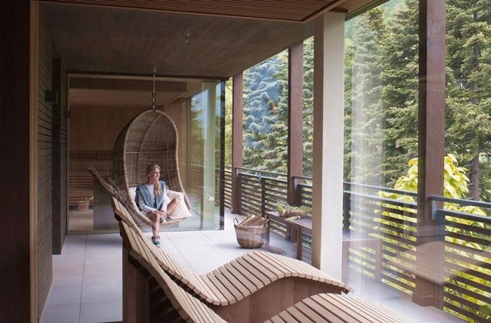 Der moderne Saunabereich im Hotel Giardino Marling.