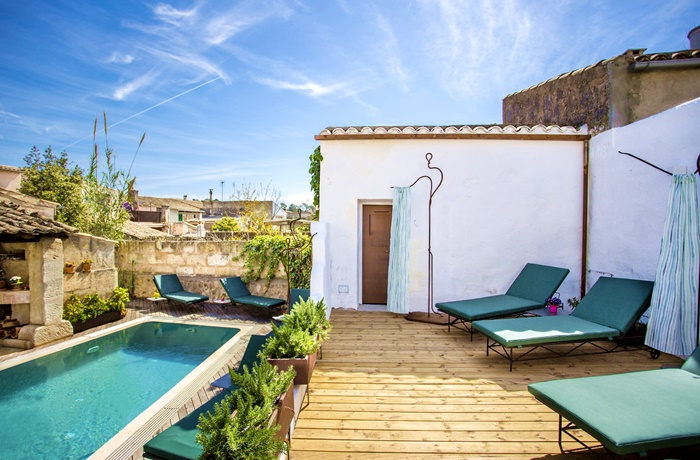 Adults Only Hotel: Rooftop-Pool mit Sonnenterrasse, Hotel Can Joan Cap, Mallorca Spanien