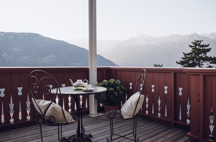 Alleine die Aussicht im Hotel Castel Fragsburg sorgt schon für Gänsehaut