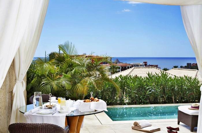 Luxushotels am Meer: Villa mit Privatpool und Meerblick im Hotel Bahia del Duque, Teneriffa, Kanaren