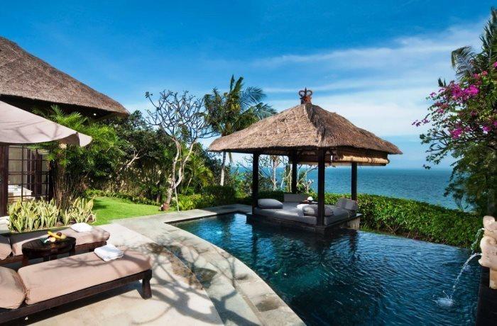 Villa mit tropischem Garten, Infinity-Pool und Meerblick im AYANA Resort and Spa, BALI, Indonesien