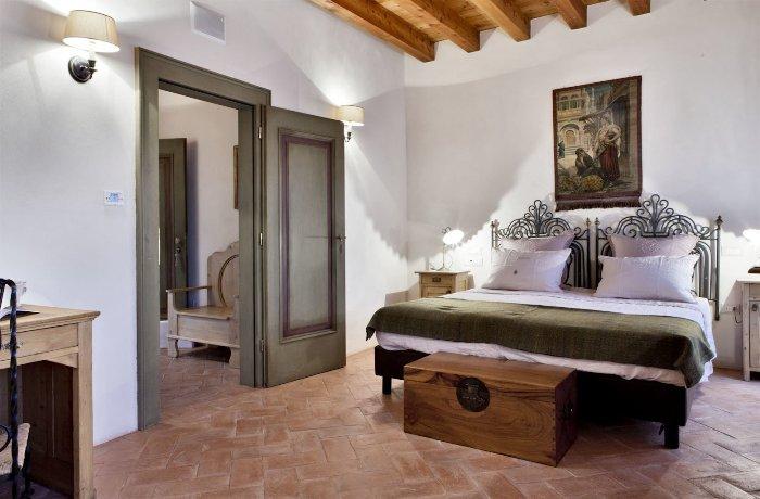 Hotelzimmer im Agriturismo L'Unicorno in der Lombardei, Italien