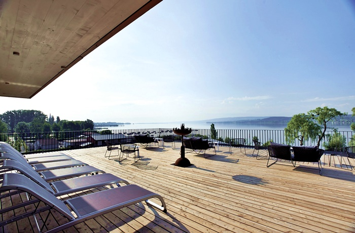 Urlaub über Ostern: Dachterasse mit Seeblick, Hotel Bora HotSpaResort, Bodensee, Baden-Württemberg